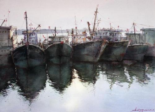 有船的风景系列1