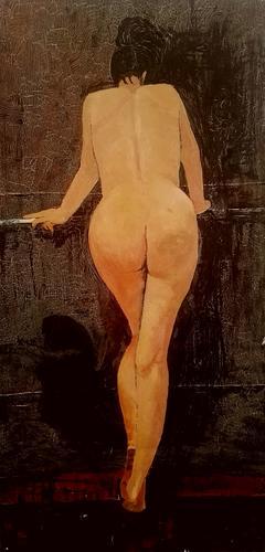 《背向的女人体》