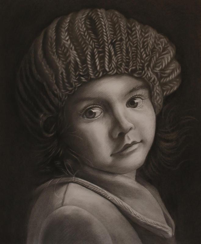 戴帽子的小女孩