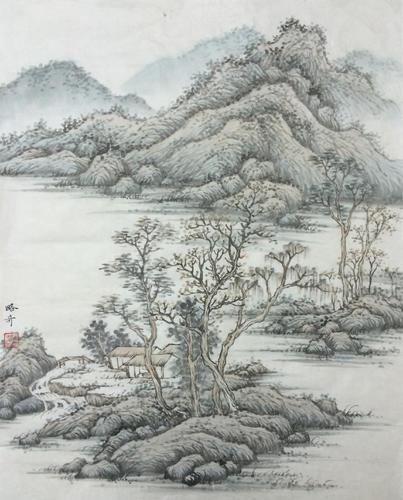 《山水相依图二》