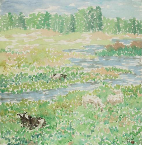 河畔风景之一