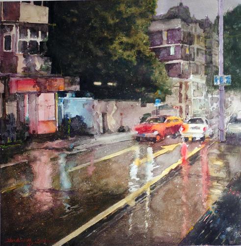 夜·雨后街道